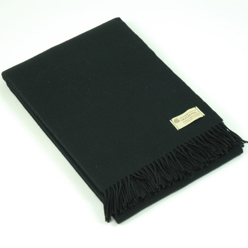Black Throw Blanket Grazalema