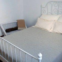 Decke Doppelbett Streifen
