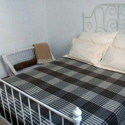 Decke Einzelbett Kariert
