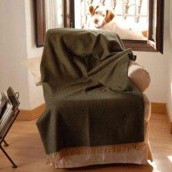 Manta sofá Kaki