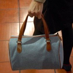 Blue Wool Bag
