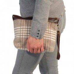 Bolso de mano gaidovar para mujer lana y piel mantas - Mantas de piel ...