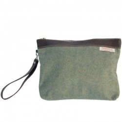 Green Fabric Handbag