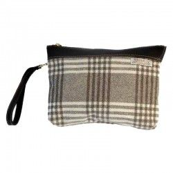 Check Wool Handbag