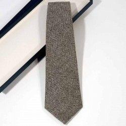 Corbata Espiga Gris