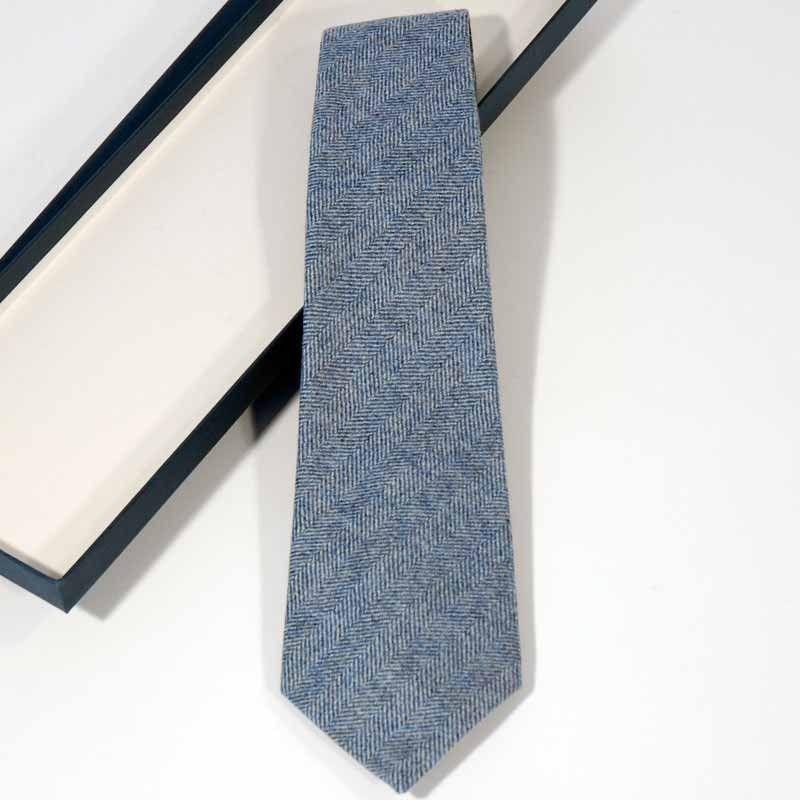 Blue Wool Tie