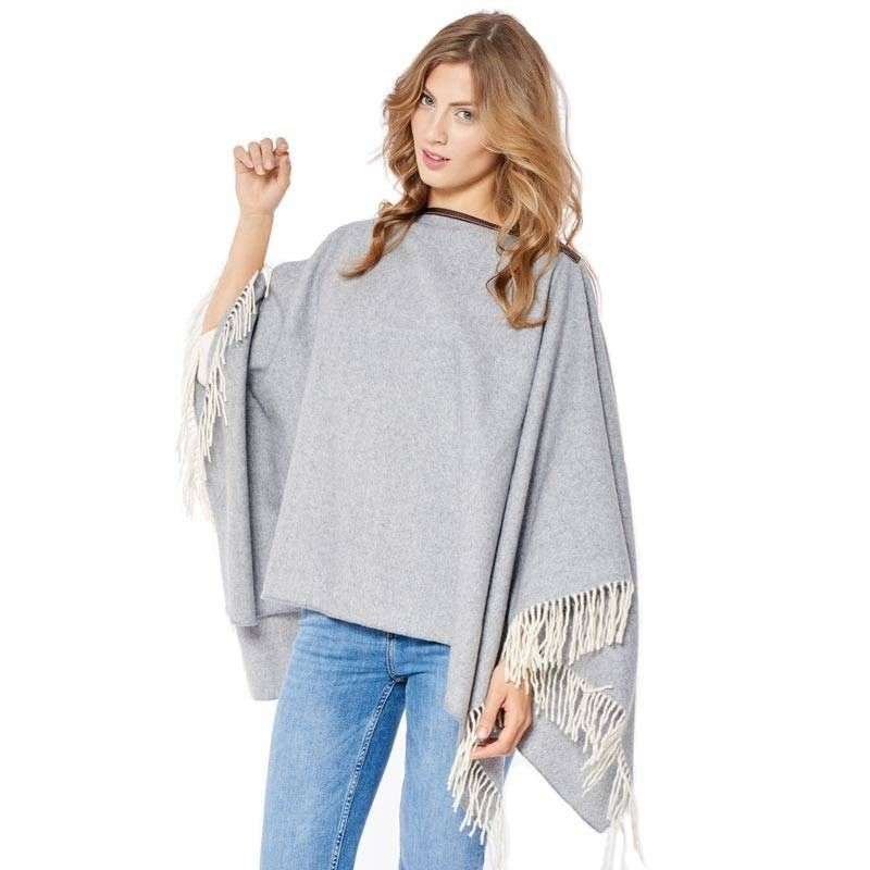 Clear Grey Poncho
