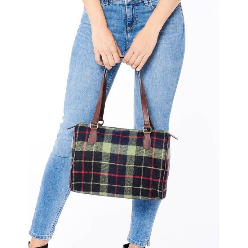 Tartan Wool Fabric Bag