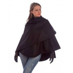 Black Short Cape
