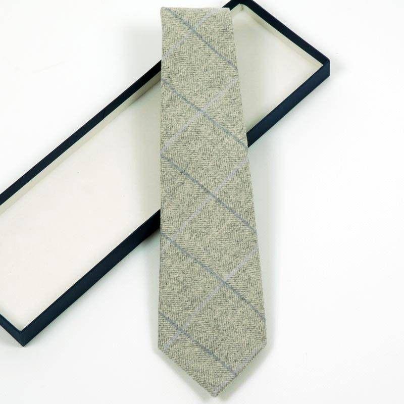 Corbata Cuadros Gris