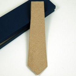 Krawatte Wolle Kamel