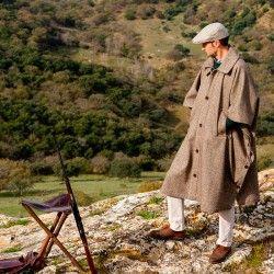 Capote de lana para caza