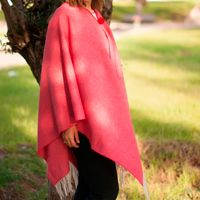 poncho damen winter